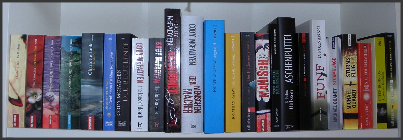 Bücherreihe regal  Blick ins Regal | Lesemomente