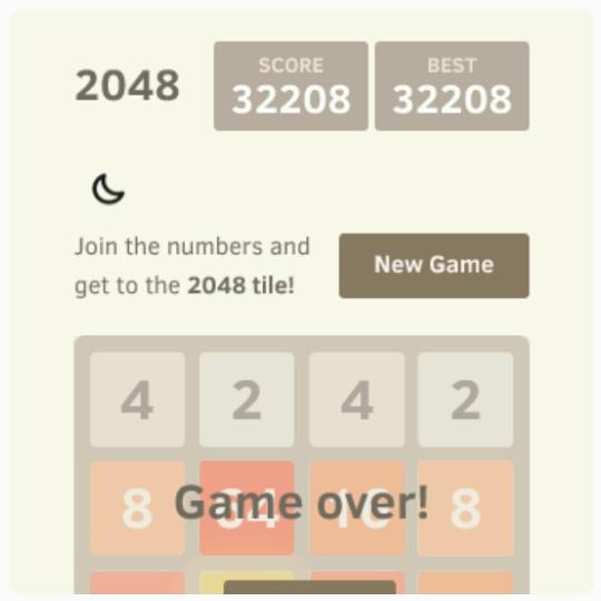 """habe ich die neu entdeckte App """"2048"""". Ohoh, groooßes Suchtpotenzial!"""