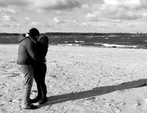 Spaggn und ich am Meer